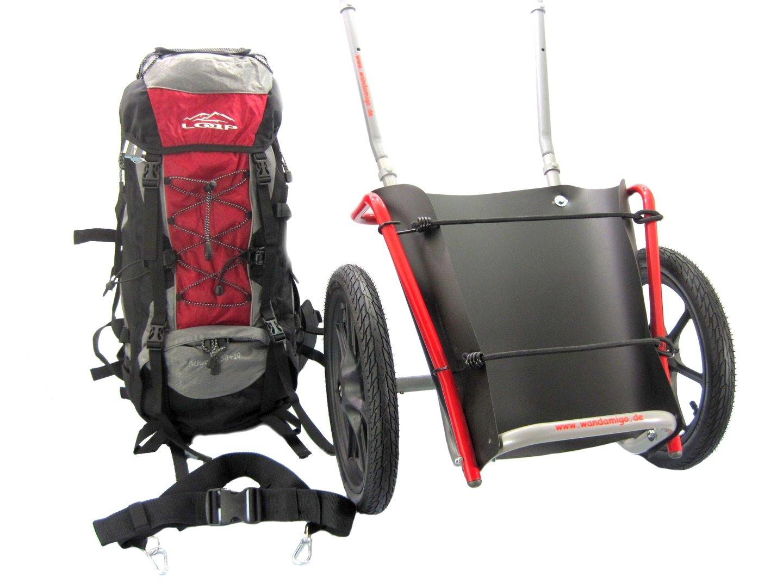 rucksack mit pilgerwagen 16 zoll r der luftbereifung. Black Bedroom Furniture Sets. Home Design Ideas