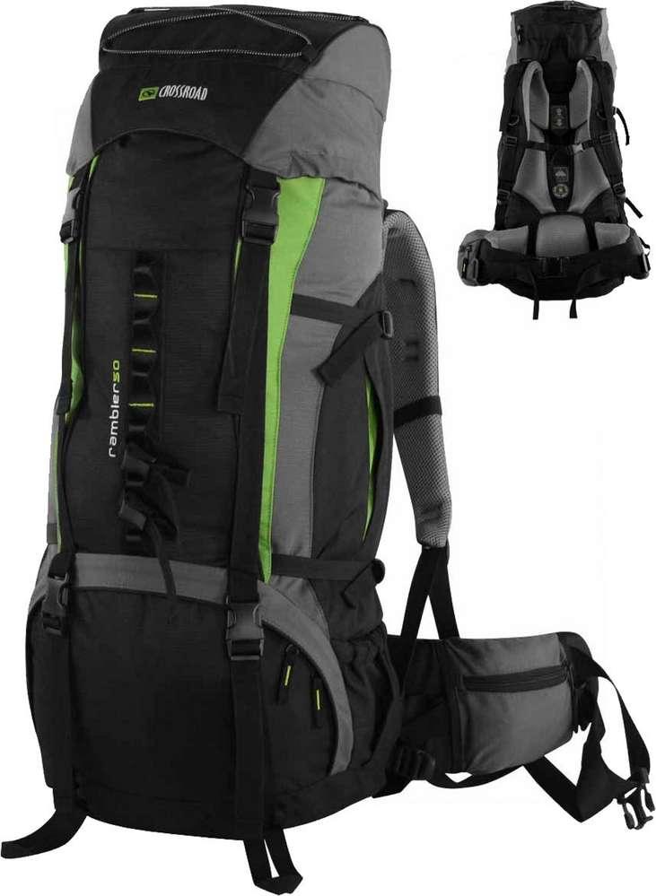 f16987e8f66c1 Trekkingrucksack Pilgerrucksack Wanderrucksack Crossroad Rambler50 grün  schwarz